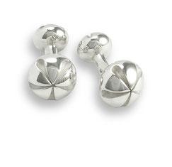 silberne Manschettenknöpfe Knospe silver Cufflinks bud