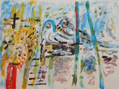Begleitetes Malen - personenorientiertes Malen - im Atelier farbennest in Bonn