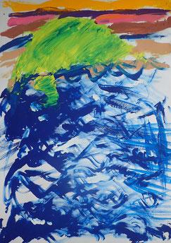 Begleitetes Malen mit Kindern im Atelier farbennest in Bonn