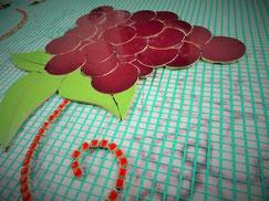 Grappe de raisins en mosaïque