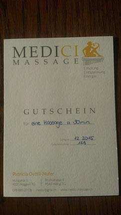 Sponsor: Patricia Oettli von www.medici-massage.ch