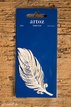 Artoz Laser Cut Feder Plume, Artoz, Laser Cut, Herzen, Shop, bestellen, Schweiz