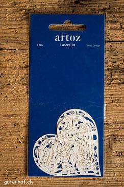 Artoz, Laser Cut, Herzen, Shop, bestellen, Schweiz