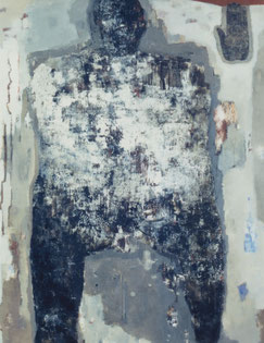 Walking man   145.5×112cm   Oil on canvas   1998