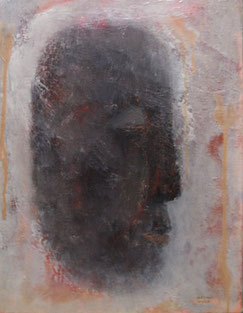 Face  41×31.8cm   Oil on canvas   1991