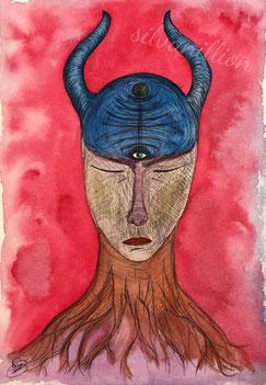 Wurzelmensch (Aquarell, Papier), Bild von silvanillion