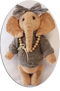 """Elefant """"Elfi"""" von Hand gefertigt, Unikat"""