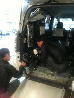 福祉車両 スロープ修理