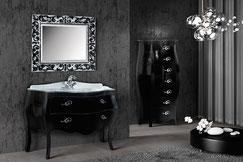 mobile bagno barocco royale laccato nero