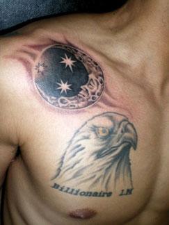 月と星タトゥー