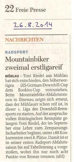 Freie Presse Rochlitz - 26.08.2014