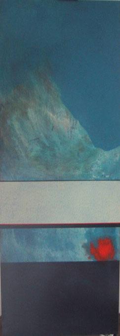 Nr. 2003-HO-016: 140 x 50 cm; Acryl auf MDF, Matterhorn