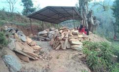 Bau der Versammlungshütte