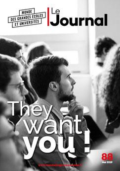 Couverture du journal de Monde des Grandes Ecoles et Universités de mai 2019