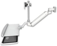 医療用 ウォールチャネルマウント 昇降式 ディスプレイキーボード用アーム:ASUL182IEV7-W5-KUP
