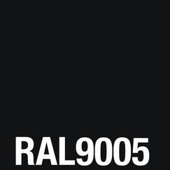 Glas schwarz lackiert RAL 9005