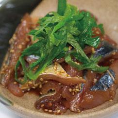 博多胡麻醤油,料理使用例,胡麻さば,博多水炊きさもんじ