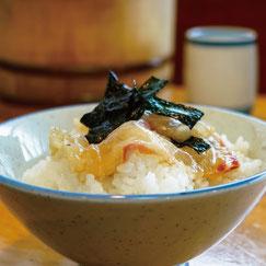 博多胡麻醤油,料理使用例,鯛茶漬け,博多水炊きさもんじ