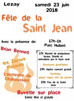 le programme de la fête de la St Jean du 23 juin 2018