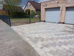 Terrassenbau aus WPC und Granitstufen von GreenFairway e.K.
