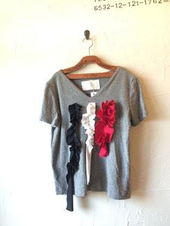 フリル飾り付Tシャツ 5900