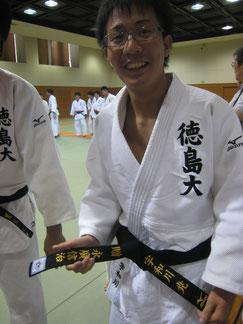 宇和川選手 永廣先生からの帯とともに