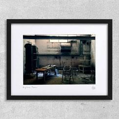 Engine room lieu abandonné urbex photo photographie d'art contemporain usine désaffectée bureau deco cadre photo encadré