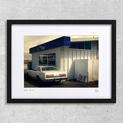 photographie auto care boiture garage desert usa amerique vintage deco cadre