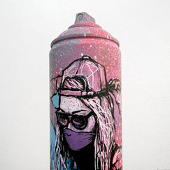 GRAFFMATT - Custom spraycan bombe peinture personnalisée customisation art toy spray paint bombe dessinée graff graffiti posca vente achat déco figurine