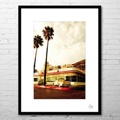photographie d'art contemporain laguna beach cote pacifique route amérique usa vintage palmiers achat photo