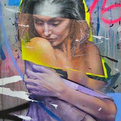 GRAFFMATT - Artiste peintre français streetart art urbain portrait peinture sur bois chambéry palette en bois