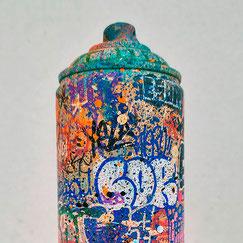 artiste peintre contemporain portrait bleu noir sombre dark graffmatt