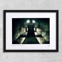 photographie d'art contemporain lieu abandonné urbex fort sombre chateau deco cadre