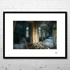 photo art encadrée deco artiste original moderne hopital abandonné lieu déseffecté