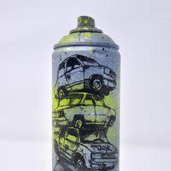 GRAFFMATT - Custom spraycan bombe peinture personnalisée customisation art toy spray paint bombe dessinée graff graffiti posca vente achat voiture casse auto