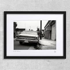 photo etats unis amerique noir et blanc voiture ford falcon rue paysage urbain los angeles