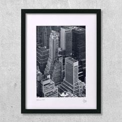 gotham city finance-center-new-york-city-building-manhattan-immeubles-deco-vue-aérienne-ville-photo-noir-et-blanc-cadre-design-architecture
