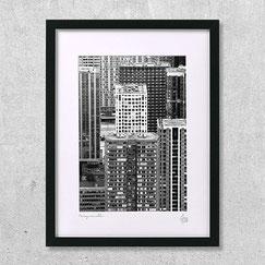 Photographie Paris-Beaugrenelle-building-immeubles-ville-noir-et-blanc-gratte-ciel-urbain