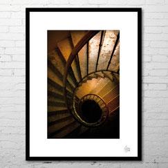 photographie escaliers spiral colimaçon deco achat original encadrement