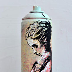 GRAFFMATT - Custom spraycan bombe peinture personnalisée customisation art toy spray paint bombe dessinée graff graffiti posa portrait femme woman déco