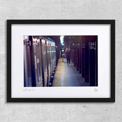 34th street photography art deco decoration interieur design photo metro new-york subway train photographie cadre