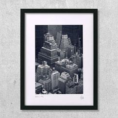 Gotham city photo photographie ville new-york city vue ciel aerien noir et blanc design architecture bureau immeubles gratte-ciels tours cadre