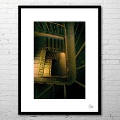 photo d'art escalier industriel abandonné cadre deco urbex contemporain