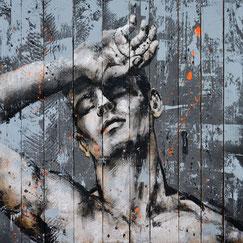 GRAFFMATT - Achat oeuvre d'art peinture original artiste streetart palette bois déco indus moderne
