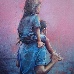 GRAFFMATT Achat oeuvre peinture palette peinte art bois streetart sculpture ville urbain newyork immeubles buildings