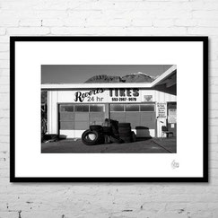 photo art contemporain paysage usa californie noir et blanc vintage