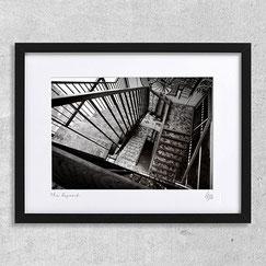 photo art contemporain architecture escalier noir et blanc stairwell