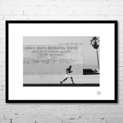 photo art encadrée deco venice beach los angeles californie usa amerique basket