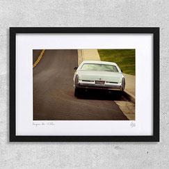 Photographie usa street road voiture americaine ancienne cadre coupe de ville