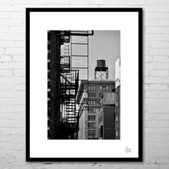 photo art contemporain paysage rue newyork street city noir et blanc